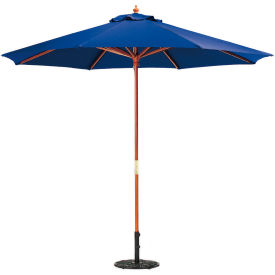 Oxford Garden® Market Outdoor Umbrella 9' - (Navy - poly)