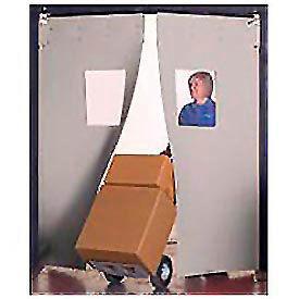 "Aleco® 8' x 9' x 0.25"" Twin Panel Gray Flexible Impact Traffic Door 436018"