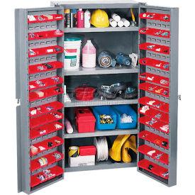 Bin Cabinet Unassembled With 96 Door Bins 38 Inch Wide