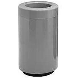 Fiberglass Waste Receptacle with Open Top - 25 Gallon Capacity Gray
