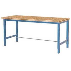 """96""""W x 36""""D Production Workbench - Shop Top Square Edge - Blue"""