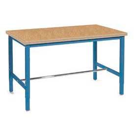 "72""W x 30""D Production Workbench - Shop Top Safety Edge - Blue"