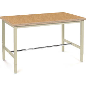 "60""W x 30""D Production Workbench - Shop Top Square Edge - Tan"