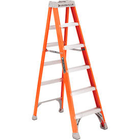 Louisville 6' Fiberglass Step Ladder - 300 lb Cap. - FS150-6