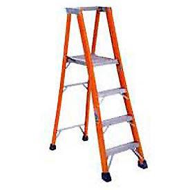 Louisville 8' Fiberglass Platform Step Ladder - 300 lb Cap. - FP1508