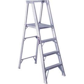 Louisville 4' Aluminum Platform Step Ladder - 300 lb Cap. - AP1004