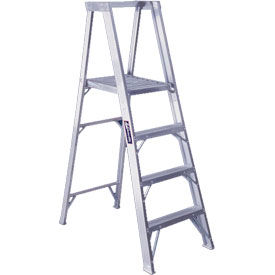 Louisville 8' Aluminum Platform Step Ladder - 300 Lb. Cap. - AP1108HD