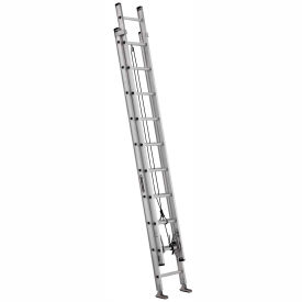 Louisville 20' Aluminum Extension Ladder - 300 lb Cap. - AE2220