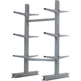 "Cantilever Rack Double Sided Starter Unit Medium Duty, 48"" W  x 54"" D x 6' H,16200 Lbs Capacity"