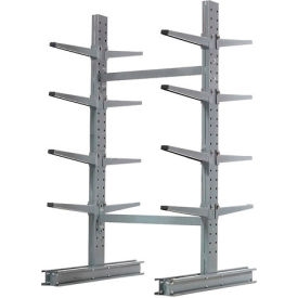 "Cantilever Rack Double Sided Starter Unit Medium Duty, 48"" W  x 54"" D x 8' H, 10600 Lbs Capacity"
