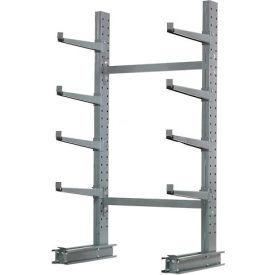 "Cantilever Rack Single Sided, Starter Unit Medium Duty, 48"" W  x 33"" D 8' H, 5300 Lbs Capacity"