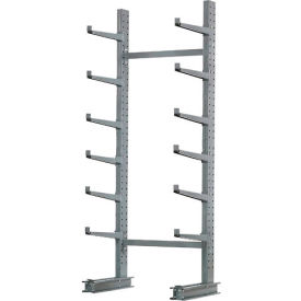 "Cantilever Rack Single Sided, Starter Unit Medium Duty, 72"" W  x 45"" D x 10'H, 3800 Lbs Capacity"