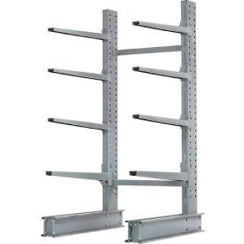 "Cantilever Rack Single Sided Starter Unit Heavy Duty, 48"" W  x 38"" D x 8' H, 13300 Lbs Capacity"