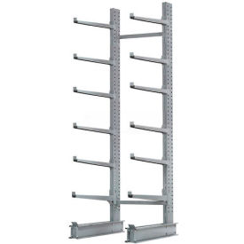 "Cantilever Rack Single Sided Starter Unit Heavy Duty, 72"" W  x 52"" D x 12' H, 8500 Lbs Capacity"