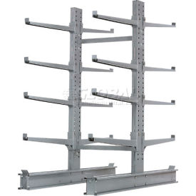 """Cantilever Rack Double Sided Starter Unit Heavy Duty, 48"""" W  x 59"""" D x 8' H,  26600 Lbs Capacity"""