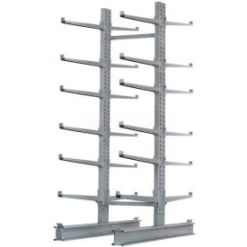 """Cantilever Rack Double Sided Starter Unit Heavy Duty, 72"""" W  x 83"""" D x 10'H, 20600 Lbs Capacity"""