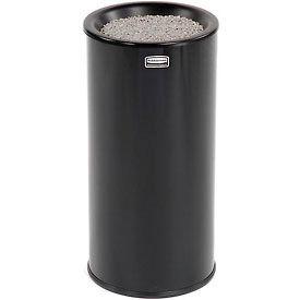 Rubbermaid® Round Sand Top Urn Ashtray - Black