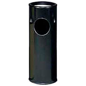 Rubbermaid® Round Sand Top Ash Trash Container - Black