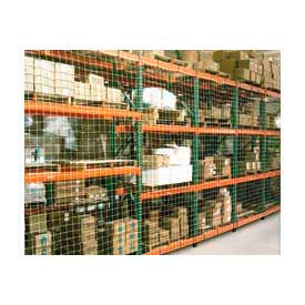 "Pallet Rack Netting Two Bay, 294""W x 96""H, 1-3/4"" Sq. Mesh, 1250 lb Rating"