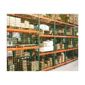 """Pallet Rack Netting Two Bay, 198""""W x 120""""H, 4"""" Sq. Mesh, 2500 lb Rating"""