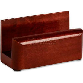 accessories furnishings desk accessories wood tones business card holder mahogany