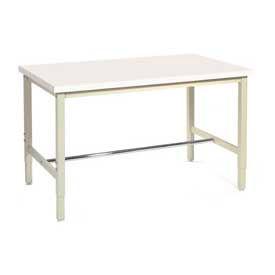"60""W x 24""D Production Workbench - Plastic Laminate Square Edge - Tan"