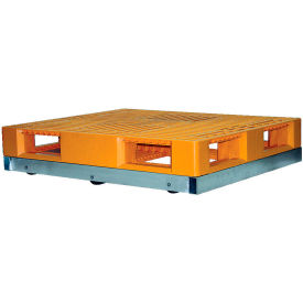 "Vestil Pallet Dolly DOL-4848-8NT 48""L x 48""W 6000 Lb. Capacity Non-Tilt Rollers"