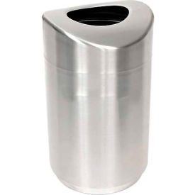 """Open Top Receptacle, Stainless Steel, 30 gal., 20""""Dia x 35.5""""H"""