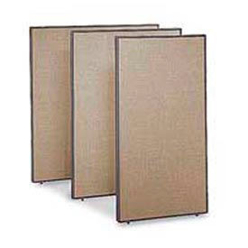 """Office Partitions - Taupe Frame Tan Fabric - 66""""H x 48""""W"""