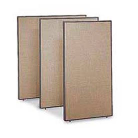 """Office Partitions - Taupe Frame Tan Fabric - 66""""H x 60""""W"""