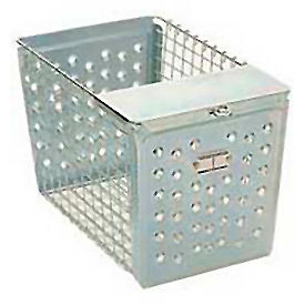 "Steel Basket With Pilfer Guard 9""W"