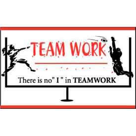"""Banner, There is no """"I"""" in Teamwork, 3ft x 5ft"""