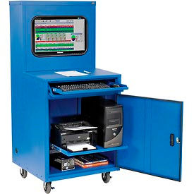Deluxe LCD Industrial Computer Cabinet / Blue-Assembled