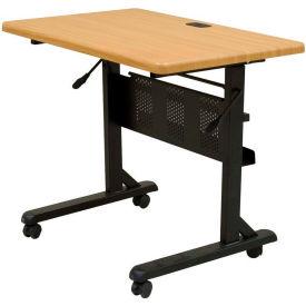 Balt® Flipper Training Table, 36 x 24, Teak