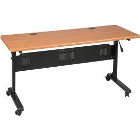 "Balt® Flipper Training Table, 72"" x 24"", Teak"