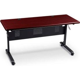 "Flipper Training Table, Rectangular, 36"" x 24"" Mahogany"