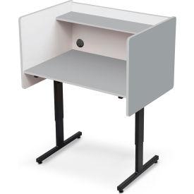 Balt® 89789 Height Adjustable Study Carrel - Gray