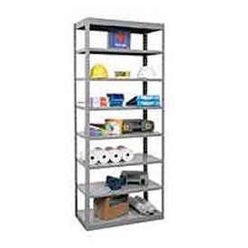 "Hallowell Steel Shelving  48wx12""Dx87""H Open Clip Style 8 Shelf"