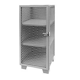 """Jamco Heavy Duty Narrow Storage Cabinet ME230 - Expended Mesh Door 30""""W x 24""""D x 54""""H"""