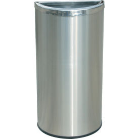 Stainless Steel Waste Container, 8 Gallon - Half Moon
