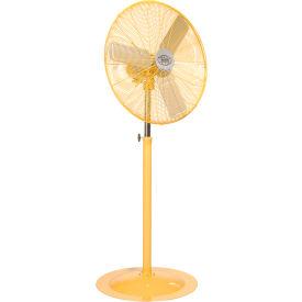 Deluxe Oscillating Pedestal Fan 30Inch Diameter - Safety Yellow, 1/2HP, 10000CFM