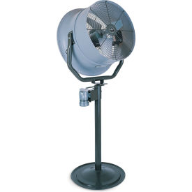 """Triangle Engineering 24"""" Oscillating Pedestal Fan With Poly Housing 245550 1 HP 5900 CFM"""