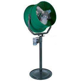 Jetaire® 30 Inch Pedestal Fan w/ Poly Housing 1 HP, 115V, 1PH, 10600 CFM, Green