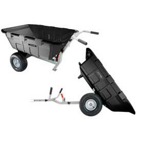 Lifetime® Yard Cart Heavy Duty Wheelbarrow & Lawn Tractor Trailer
