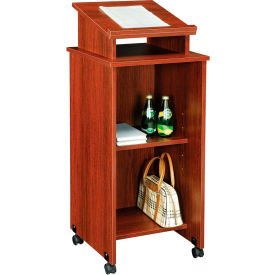 Mobile Lectern in Mahogany Finish