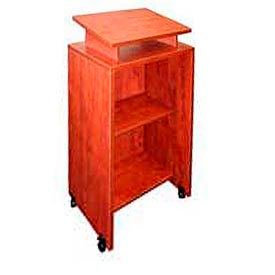 Mobile Lectern in Cherry Finish