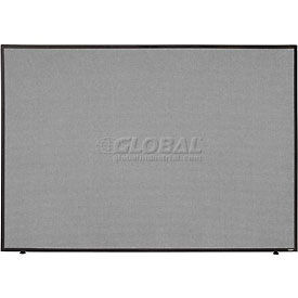 """Office Partition Panel, 60-1/4""""W x 42""""H, Gray"""