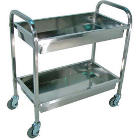 Luxor® SST2L Stainless Steel Cart 35-1/2 x 19 x 35-1/2 200 Lb Capacity