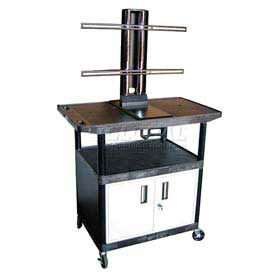 """Luxor Flat Screen Monitor & Plasma LCD TV Cart with Cabinet 40""""H 250 Lb Capacity"""