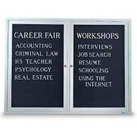 """United Visual Products Two-Door Outdoor Letter Board - 42""""W x 32""""H"""